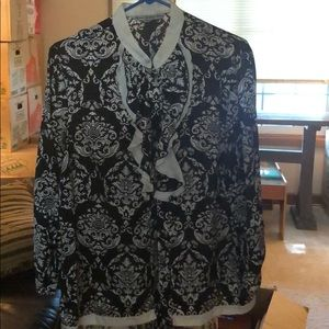 Black and White Paisley Blouse